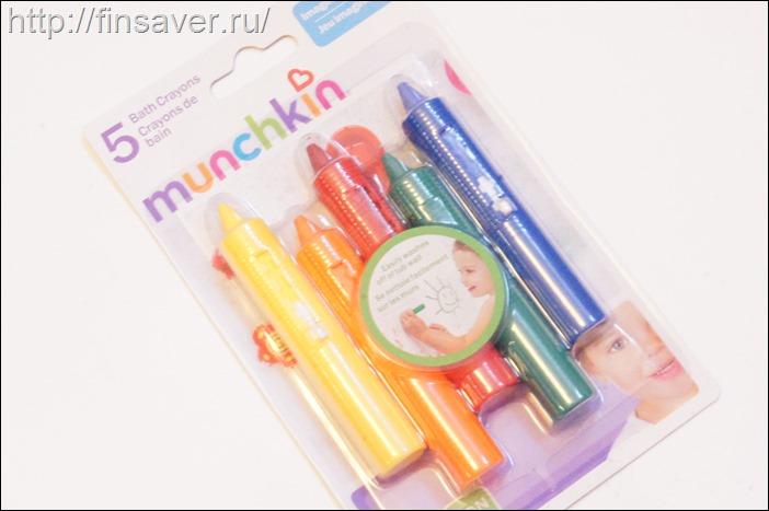 Munchkin, Аква-карандаши, 5 аква-карндашей для рисования в ванной дешево органика шруки iherb.com отзывы купон на скидку в 10$ инструкция как сделать заказ акции скидки косметика БАДы витамины