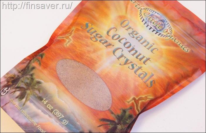 Earth Circle Organics, Кристаллический кокосовый сахар, 14 унций (397 г)дешево органика шруки iherb.com отзывы купон на скидку в 10$ инструкция как сделать заказ акции скидки косметика БАДы витамины
