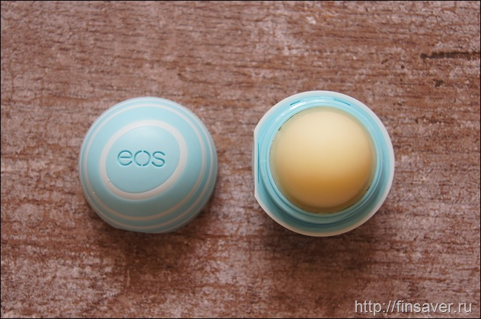EOS, Visibly Soft Lip Balm Sphere, Vanilla Mint, .25 oz (7 g)бальзам для губ мятный натуральный гигиеничка дешево органика шруки iherb отзывы купон на скидку в 10$ инструкция как сделать заказ акции скидки   косметика БАДы витамины