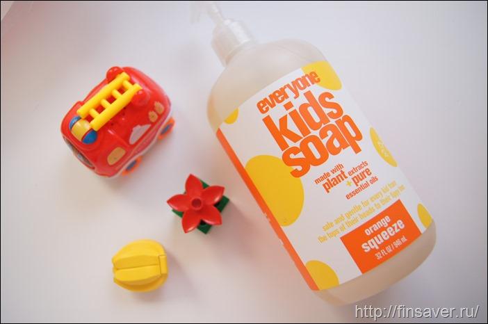 Солнечное детское мыло. Целый литр апельсинового счастья.