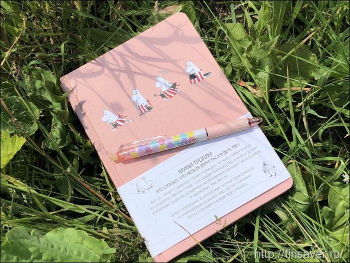 Пудрово-розовый блокнот для поклонников муми-троллей и ценителей красивой канцелярии.