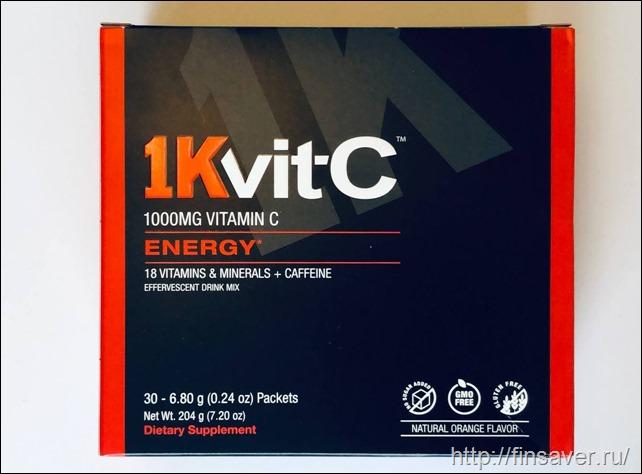 1Kvit-C, Витамин C, повышение уровня энергии, шипучая смесь для приготовления напитка, натуральный апельсиновый вкус, 1000 мг, 30 пакетиков по 6,8 г (0,24 унции)дешево органика шруки iherb отзывы купон на скидку в 10$ инструкция как сделать заказ акции скидки   косметика БАДы витамины
